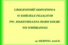 Wróblowa - Odpust 2016